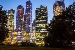 Moscú la ciudad de la noche Fotos de archivo libres de regalías
