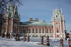 Moscú. Museo Tsaritsyno. Palacio magnífico. Imagen de archivo libre de regalías