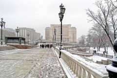 moscú Paisaje del invierno Fotografía de archivo libre de regalías