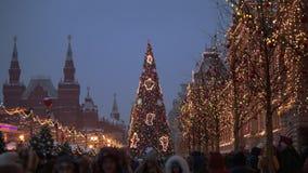 Moscú, Plaza Roja, Zum - 9 de diciembre de 2018 almacen de video