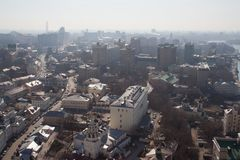 Moscú por la mañana Imagen de archivo libre de regalías