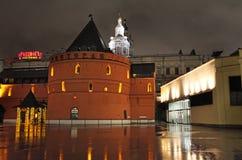 Moscú por noche Imagen de archivo libre de regalías