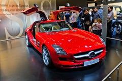 MOSCÚ, RUSIA - 31 DE AGOSTO: Modelo nuevo de Mercedes Imagenes de archivo