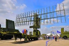 MOSCÚ, RUSIA - AGOSTO DE 2015: radar móvil presentado en el 12mo mA Imágenes de archivo libres de regalías