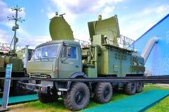 MOSCÚ, RUSIA - AGOSTO DE 2015: radar móvil presentado en el 12mo mA Foto de archivo