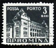 MOSCÚ, RUSIA - 2 DE ABRIL DE 2017: Un sello de los posts impreso en Rumania fotografía de archivo