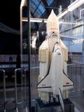 MOSCÚ, RUSIA - 11 DE AGOSTO DE 2018: Energía y nave espacial reutilizable Buran, disposición del portador de Rocket imagenes de archivo