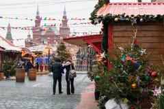 MOSCÚ, RUSIA - 23 DE DICIEMBRE DE 2016: Plaza Roja Imagen de archivo