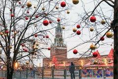 MOSCÚ, RUSIA - 23 DE DICIEMBRE DE 2016: Plaza Roja Fotografía de archivo