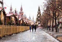 MOSCÚ, RUSIA - 23 DE DICIEMBRE DE 2016: Plaza Roja Foto de archivo