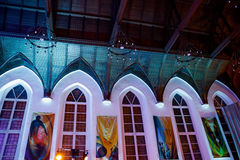 MOSCÚ, RUSIA - 27 DE ENERO DE 2017: Vista interior de St histórico Andrews Anglican Church Fotografía de archivo