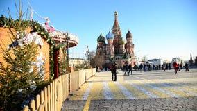 Moscú, Rusia - 18 de febrero 2016 Vista del Kremlin de Vasilyevsky Spusk metrajes