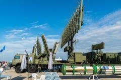 MOSCÚ, RUSIA - 24 de julio 2017 Sistemas automotores del radar en el salón internacional MAKS-2015 de la aviación y del espacio Fotografía de archivo libre de regalías