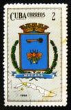 MOSCÚ, RUSIA - 15 DE JULIO DE 2017: Un sello impreso en Cuba muestra la ha Foto de archivo