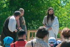 MOSCÚ, RUSIA - 7 DE JUNIO DE 2015: Los tiempos y las épocas del festival Imagen de archivo