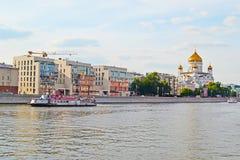 MOSCÚ, RUSIA - 14 DE JUNIO DE 2016: una vista del templo de Cristo el salvador Fotografía de archivo libre de regalías
