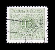 MOSCÚ, RUSIA - 20 DE JUNIO DE 2017: Un sello impreso en Czechoslovaki Imágenes de archivo libres de regalías