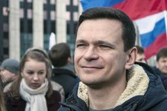 Moscú, Rusia, - 10 de marzo de 2019 Libertad de Internet de la demanda de la reunión en Rusia imagen de archivo
