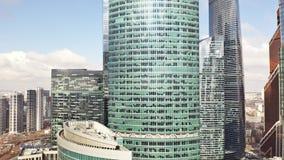 MOSCÚ, RUSIA - 23 DE MARZO DE 2019 Vista aérea del rascacielos de la oficina del centro de negocios internacional de Moscú fotos de archivo libres de regalías