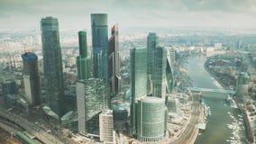 MOSCÚ, RUSIA - 23 DE MARZO DE 2019 Vista aérea de los rascacielos del centro de negocios internacional MIBC de Moscú fotografía de archivo