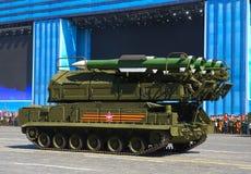 MOSCÚ, RUSIA - 7 DE MAYO DE 2015: Complejo antiaéreo del misil Foto de archivo libre de regalías