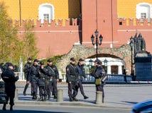 MOSCÚ, RUSIA - 3 DE MAYO DE 2017: Ensayo de Victory Parade el 9 de mayo en Moscú Imágenes de archivo libres de regalías