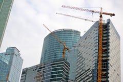 moscú RUSIA - 23 DE MAYO 2015 El centro de negocios del International de Moscú MIBC es uno de los proyectos de construcción más g Foto de archivo