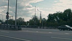 Moscú, Rusia 15 de mayo de 2015: Timelapse de la autopista almacen de video