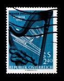 MOSCÚ, RUSIA - 24 DE NOVIEMBRE DE 2017: Un sello impreso en Austria s Foto de archivo