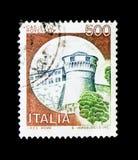 MOSCÚ, RUSIA - 24 DE NOVIEMBRE DE 2017: Un sello impreso en el sho de Italia Fotografía de archivo