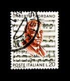 MOSCÚ, RUSIA - 24 DE NOVIEMBRE DE 2017: Un sello impreso en el sho de Italia Foto de archivo libre de regalías