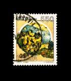 MOSCÚ, RUSIA - 24 DE NOVIEMBRE DE 2017: Un sello impreso en el sho de Italia Imagen de archivo libre de regalías