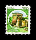 MOSCÚ, RUSIA - 24 DE NOVIEMBRE DE 2017: Un sello impreso en el sho de Italia Fotos de archivo libres de regalías
