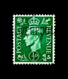 MOSCÚ, RUSIA - 24 DE NOVIEMBRE DE 2017: Un sello impreso en gran Bri Fotos de archivo libres de regalías