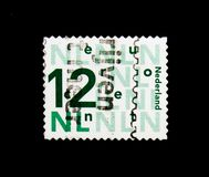 MOSCÚ, RUSIA - 24 DE NOVIEMBRE DE 2017: Un sello impreso en Netherlan Foto de archivo