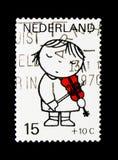 MOSCÚ, RUSIA - 24 DE NOVIEMBRE DE 2017: Un sello impreso en Netherlan Fotos de archivo libres de regalías