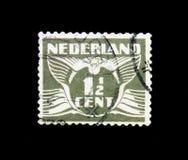 MOSCÚ, RUSIA - 24 DE NOVIEMBRE DE 2017: Un sello impreso en Netherlan Imágenes de archivo libres de regalías