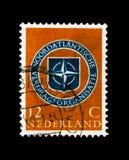 MOSCÚ, RUSIA - 24 DE NOVIEMBRE DE 2017: Un sello impreso en Netherlan Fotografía de archivo