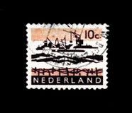 MOSCÚ, RUSIA - 24 DE NOVIEMBRE DE 2017: Un sello impreso en Netherlan Imagen de archivo