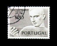 MOSCÚ, RUSIA - 24 DE NOVIEMBRE DE 2017: Un sello impreso en Portugal Imagenes de archivo