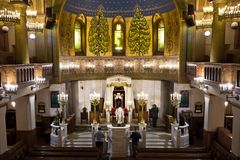 Moscú/Rusia - 25 de octubre de 2018: Sinagoga de Moscú en el sanc imágenes de archivo libres de regalías