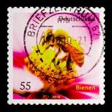 MOSCÚ, RUSIA - 21 DE OCTUBRE DE 2017: Un sello impreso en alemán FED Fotografía de archivo