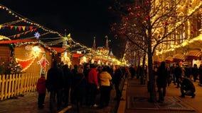 MOSCÚ, RUSIA - ENERO, 2, 2017 Mercado tradicional del Año Nuevo y de la Navidad en la Plaza Roja Imagenes de archivo