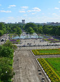 MOSCÚ, RUSIA - 26 06 2015 Parque de Gorki - central Imagenes de archivo