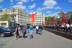 Moscú, Rusia - pueden 07 2017 Vista general del cuadrado de la revolución Foto de archivo libre de regalías