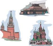 Moscú, Rusia, vistas de la Plaza Roja libre illustration