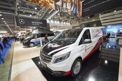 MOSCÚ, SEPT, 5, 2017: Vea encendido modificado para requisitos particulares para objeto expuesto de Mercedes Benz Vito Tourer del Imagen de archivo libre de regalías