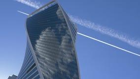 moscú Vista del ` internacional de la torre de la evolución del ` del centro de negocios de Moscú metrajes