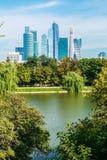 Moscú-ciudad internacional del centro de negocios de Moscú de los rascacielos Imagen de archivo