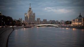 Mosc?, Rusia, fotograf?a de time lapse de la escena de la calle, fotograf?a a?rea almacen de video